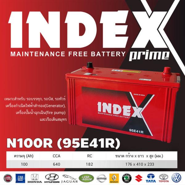 สเปคแบตเตอรี่รถยนต์ INDEX 95E41R