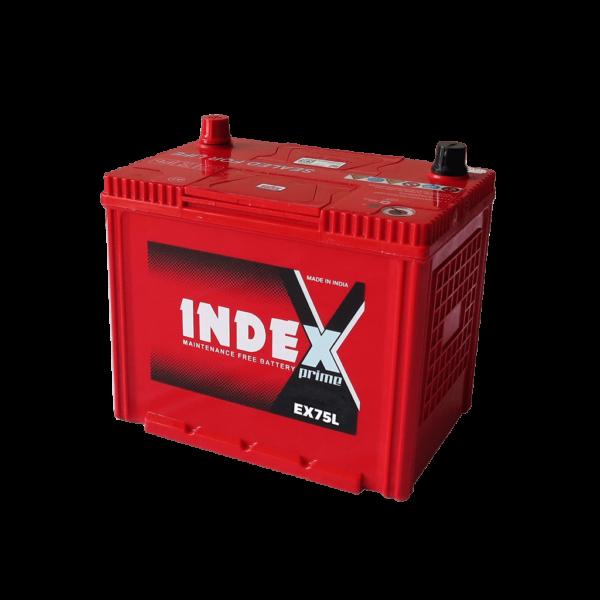 แบตเตอรี่รถยนต์ INDEX EX75L