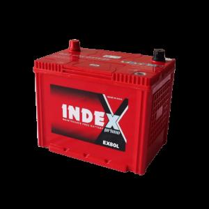 แบตเตอรี่รถยนต์ INDEX EX80L