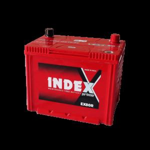 แบตเตอรี่รถยนต์ INDEX EX80R