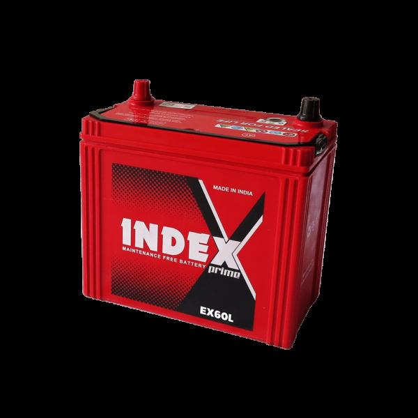 แบตเตอรี่รถยนต์ INDEX EX60L