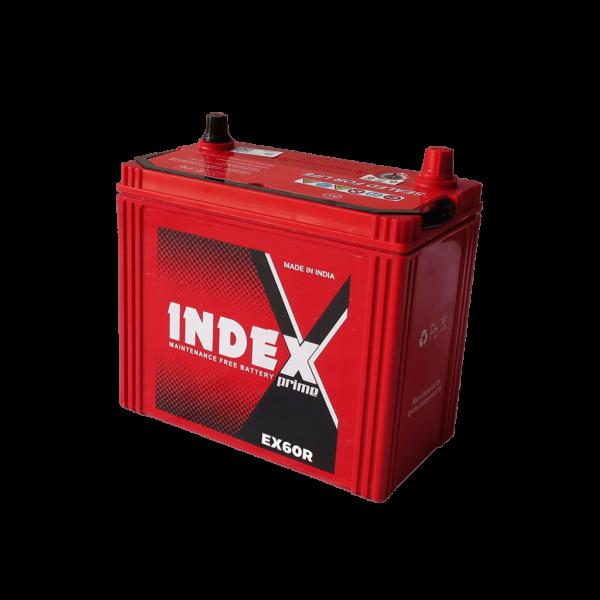 แบตเตอรี่รถยนต์ INDEX EX60R