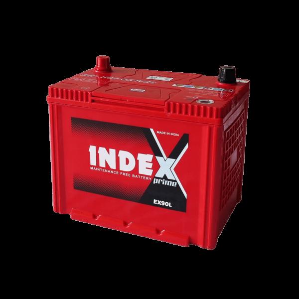 แบตเตอรี่รถยนต์ INDEX EX90L