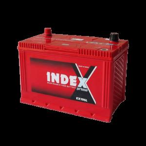 แบตเตอรี่รถยนต์ INDEX EX195L