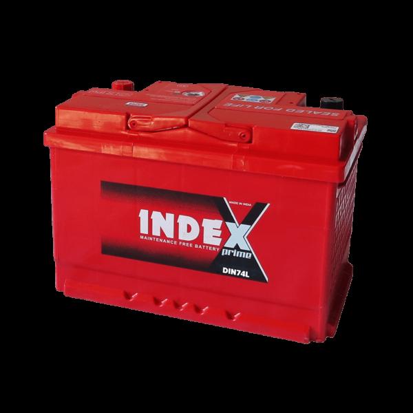 แบตเตอรี่รถยนต์ INDEX DIN74L