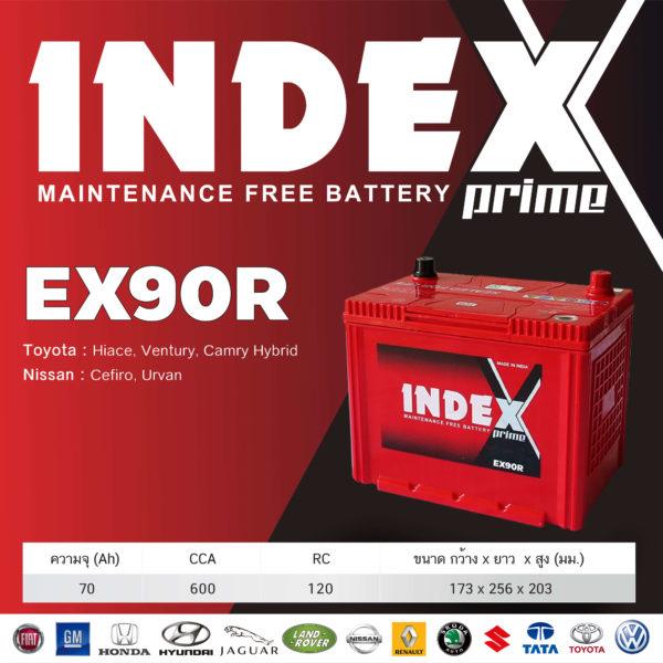 สเปคแบตเตอรี่รถยนต์ INDEX EX90R